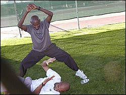bernard lagat and david krummenacker fight