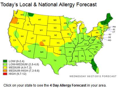 Us Pollen Map Globalinterco - Us pollen map