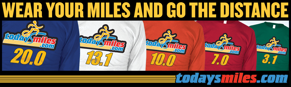 Today's Mile Running Mileage 26.2 Shirt
