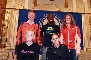 (top row) Ben Groleau, Sam Chelanga, Morgan Uceny, (bottom) Kim Smith, Desi Davila