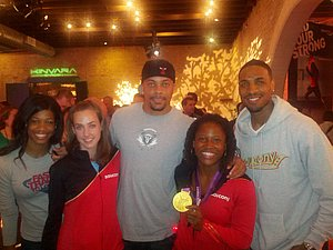 Lauryn Williams Flashes Her Gold Medal
