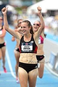 Jenny Simpson celebrating in Korea in 2011