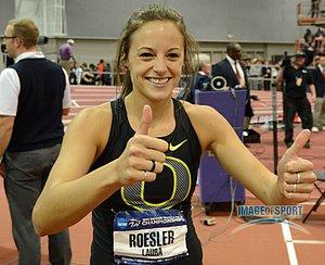 Laura Roesler celebrates