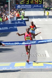 Sharon Cherop Winning Boston in 2012