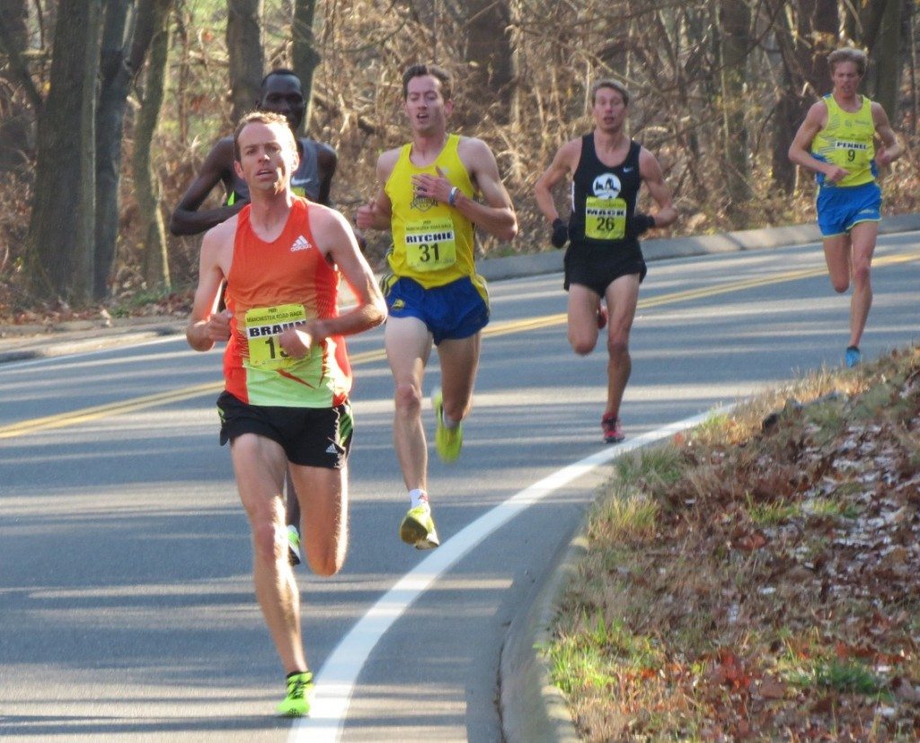 Aaron Braun en route to 2012 Manchester Road Race victory