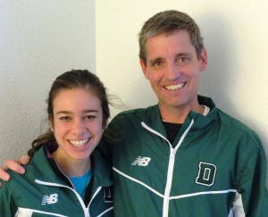 Abbey D'Agostino and her coach Mark Coogan in advance of the 2012 NCAA Division I Cross Country Championships (photo by David Monti for Race Results Weekly)