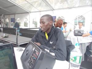 Stanley Biwott Pre-Race in New York 2012