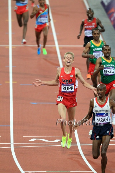 Galen Rupp Wins Silver at the 2012 London Olympics