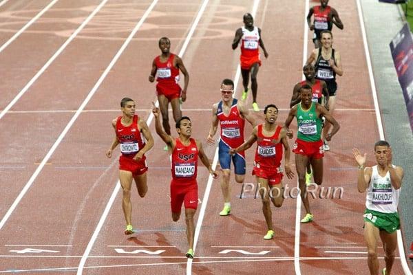 Henrik Ingebrigtsen (in glasses) getting fifth at the London 2012 Olympics