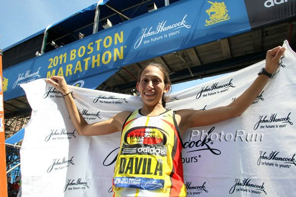 Desiree Davila, after finishing 2nd in Boston in 2011