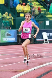 Mary Cain competing at last year's US Olympic Trials.