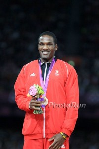 A happy Lalonde Gordon after winning bronze *More Lalonde Gordon Photos