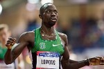 Lopez Lomong after winning the 2013 Millrose Games mile. *More 2013 Millrose Photos