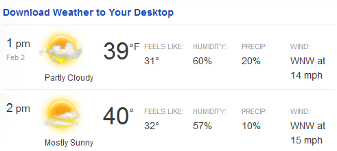 Weather.com graphic