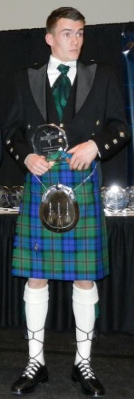 Chris O'Hare full of Scottish pride at the 2013 NCAA Indoor Track and Field banquet
