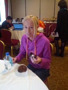 Kim Smith Eats Her Cupcake