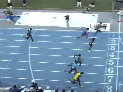 Andrew Riley pulls a stunner at the 2013 Drake Relays