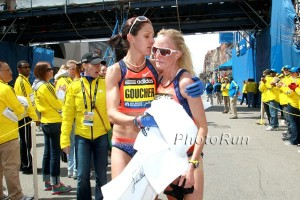 Flanagan and Goucher Last Year at the Boston Finish
