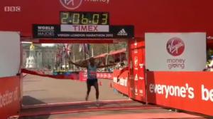 Tsegaye Kebede wins 2012 Virgin London Marathon