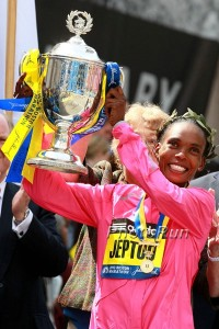 Rita Jeptoo happy to be on top in Boston again.