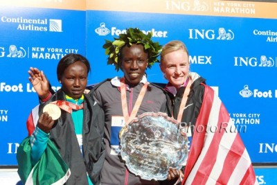 Flanagan was second in her debut in NYC in 2010*2010 New York City Marathon Photos