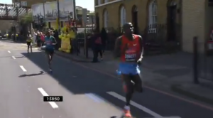 Stanley Biwott pulls away at 1:38 mark of 2013 London Marathon