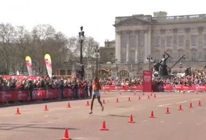 Priscah Jeptoo in Front of Buckingham Palace