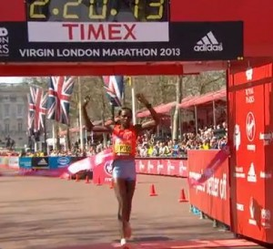 Priscah Jeptoo Wins London Marathon 2013 (Much better photos coming)
