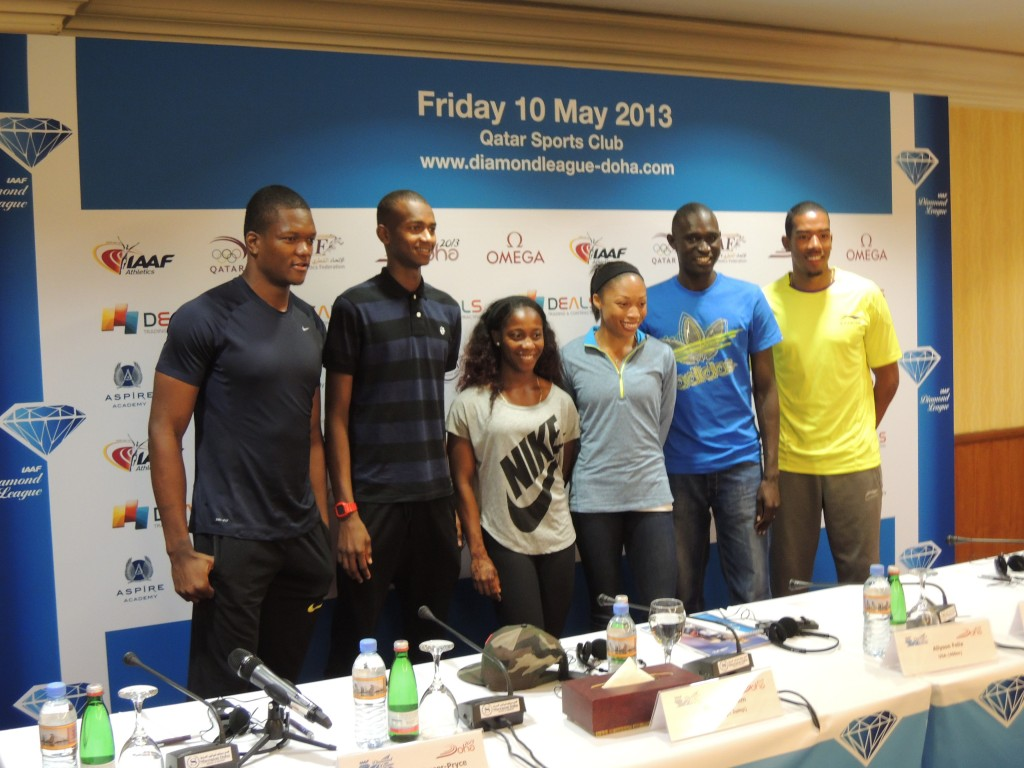 Mutaz Barshim, multiple Olympic Champions Shelly-Ann Fraser-Pryce of Jamaica and Allyson Felix of the USA, Olympic Champion and World Record Holder David Rudisha, Javelin Throw Olympic Champion Keshorn Walcott; and TJ Olympic Champion Christian Taylor