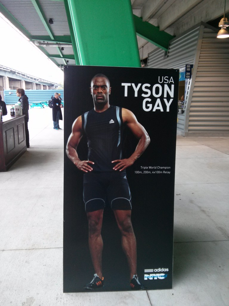 Tyson Gay was a headliner