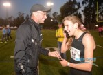 Mary Cain celebrating her 4:04.62 American junior record with Alberto Salazar *More 2013 Oxy Photos