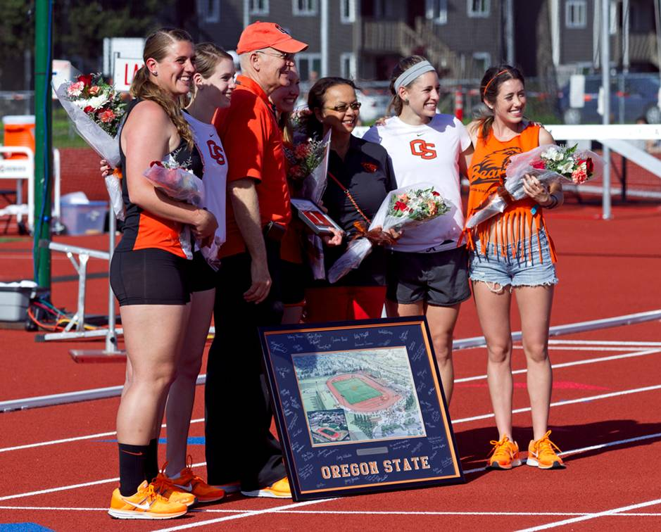 The Oregon state celebrated senior day at home at the end of April