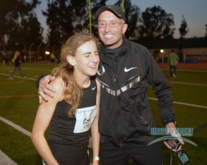 Alberto Salazar Congratulates Mary Cain After Her 4:04.62 National Record (click on photo for more photos)