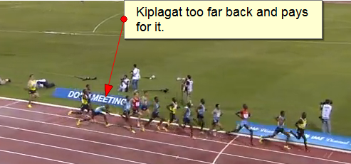 Silas Kiplagat almost goes down