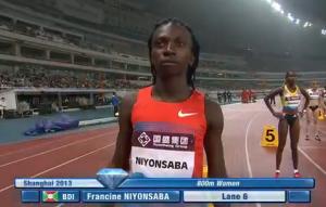 Francine Niyonsaba prior to 2013 Shanghai
