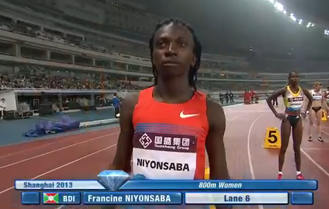 Francine Niyonsaba priot to 2013 Shanghai