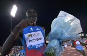 A happy David Rudisha