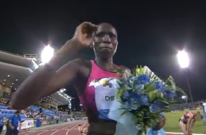 Lydiah Chepkuru after the biggest win of her career