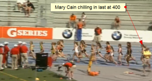 Mary Cain comfortable in the back early on