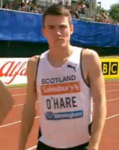 Chris O'Hare sporting a Scotland singlet