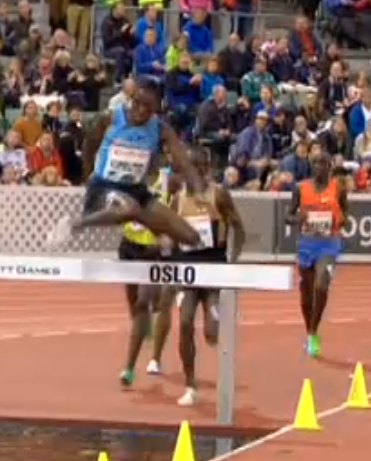 Don't let anyone ever tell you, you need good classic hurdling technique to be a steepler. This guy is the best in the world.