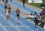 Bernard Lagat wins his sixth USA 5000m title at the 2013 USA Outdoor Track & Field Championships in Des Moines (photo by Chris Lotsbom for Race Results Weekly)