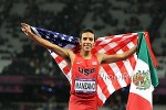 Manzano honored both the U.S. and Mexico on his victory lap at the 2012 Olympics