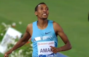 Mohammed Aman celebrates his win in Rome