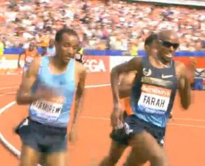 Farah saving ground on the inside