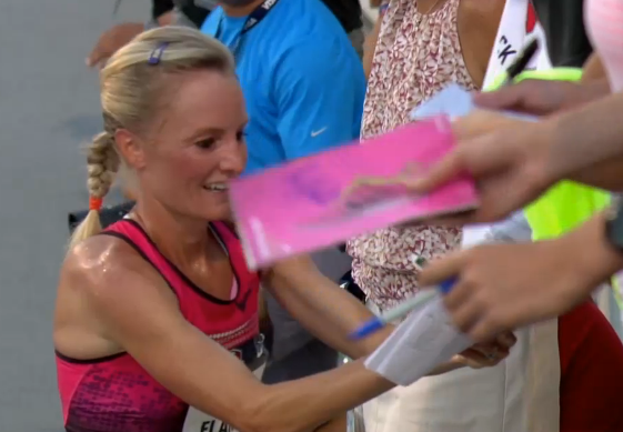 Shalane Flanagan Celebrates Another USATF Title