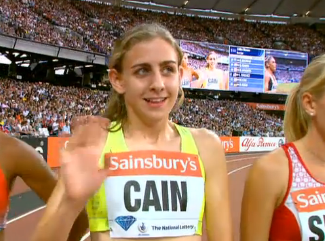 Mary Cain pre-race