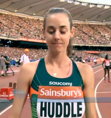 Molly Huddle before the race