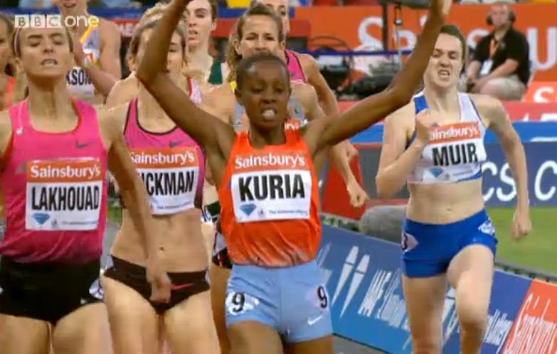Mary Kuria wins
