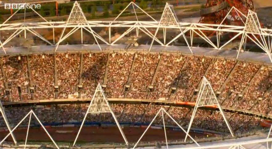Packed London stadium